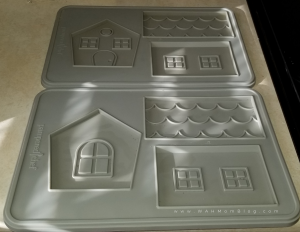 These are the silicone molds I used to make the gingerbread house pieces.